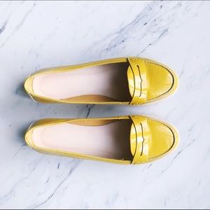 Anthropologie Shoes - Boden Casual Yellow Patent Leather Loafers