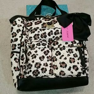 Betsey Johnson Handbags - Gorgeous! Betsey Johnson leopard backpack/tote