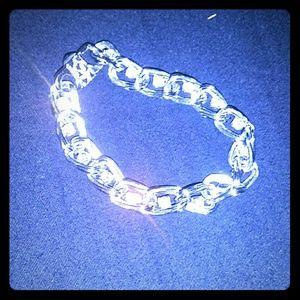 Jewelry - SALE! Sterling Silver bracelet w/ sparkling CZ