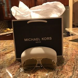 Michael Kors Gold Aviators