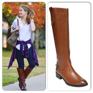 Sam & Libby Equestrian Vegan Leather Long Boots