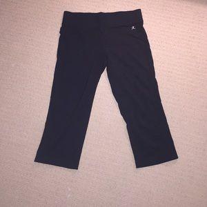 Cropped black yoga pants