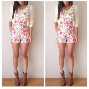 Pants - Floral overalls