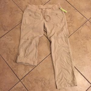 Maternity khaki adjustable pants size medium