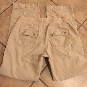 Old Navy Pants - Maternity khaki adjustable pants size medium