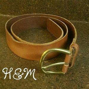 SALE!! H&M brown leather belt size M