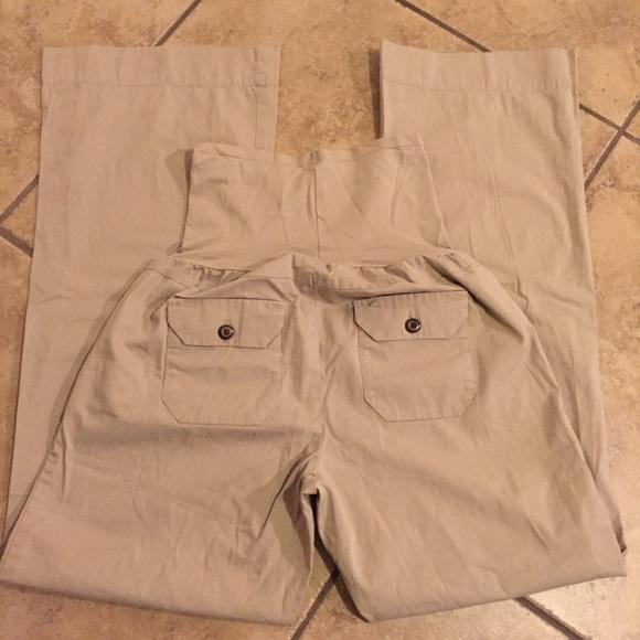 GAP Pants - Gap maternity khaki pants slacks size 4