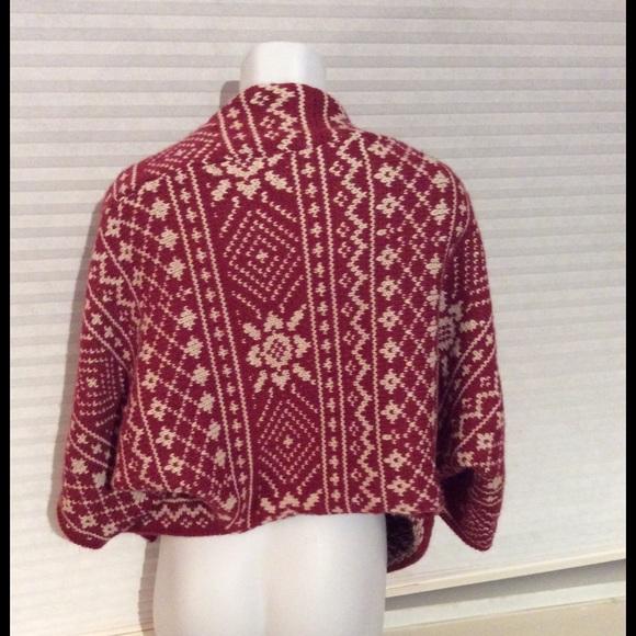 80% off CAbi Sweaters - CAbi Fair Isle Knit Open Front Cardigan ...