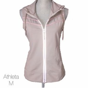 Athleta Jackets & Blazers - Athleta Beige and Pink Running Vest Med