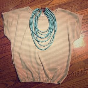 Tops - Nude Color Round Neck Top