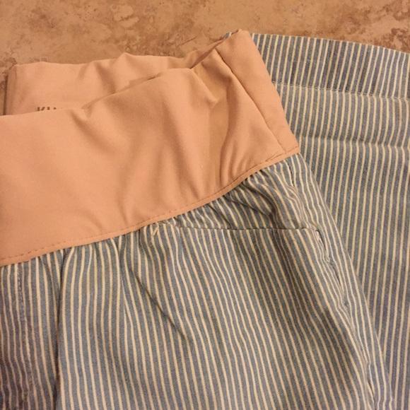 GAP Pants - Gap maternity straight crop pin stripe pants 2