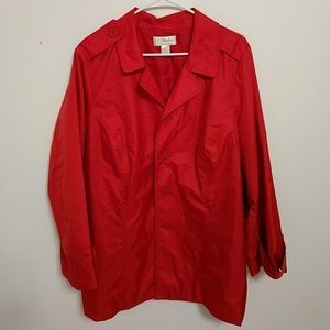 CJ Banks Jackets & Blazers - Great red raincoat