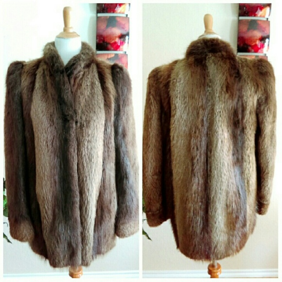 Held Projansky Inc. Jackets & Blazers - Vintage Long Hair Golden Beaver Fur Coat