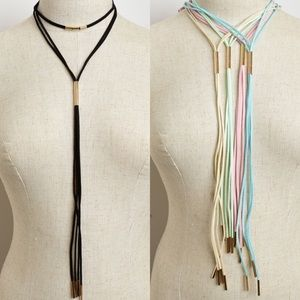 Boutique Jewelry - Assorted Colors Tassel Choker Necklace