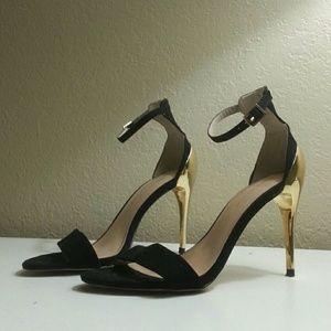 Zara Two Tone High Heel Strappy Ankle Strap