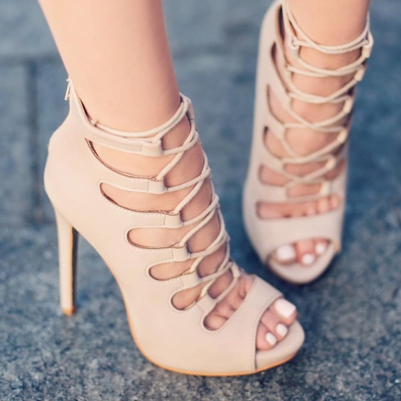 82780efdc8b Lola Shoetique Shoes - Lola shoetique vixen nude lace up heel
