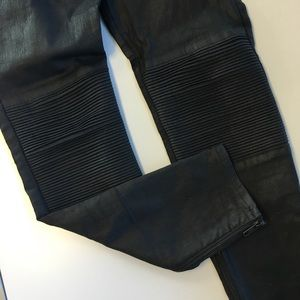 Madewell Denim - Coated Moto Skinny Jeans