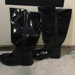 Sole Diva Wide Calf Black Boots Size 10 USA