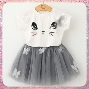 Other - PRICE REDUCED🎉HP NWT Kitty Tee & Tutu Set