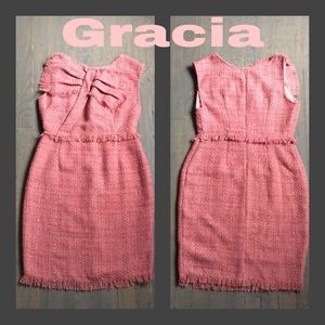 Gracia Dresses & Skirts - Blush Bow Front  Dress by Gracia