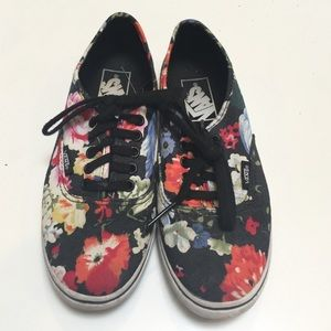 Vans Shoes - Vans Floral Shoes Women's 5 Black
