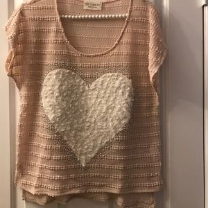 The Classic Sweaters - The Classic Heart Short Sleeve Sweater M