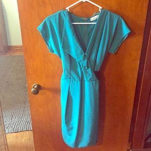 NWT Green Wrap Dress