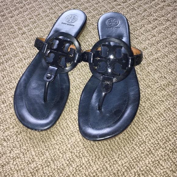 b4ad1970aa430b Tory burch Miller sandals bright navy blue 9M. M 5884d501a88e7dfa3c00739e