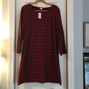 NWT J.Crew Knit Stripe Dress
