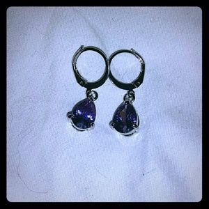 Jewelry - *Purple Crystal Dangle Earrings*
