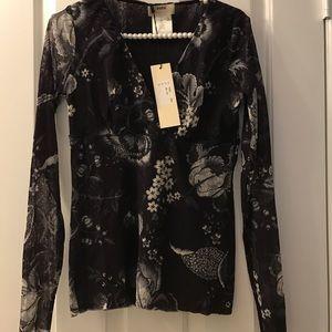 Jean Paul Gaultier Tops - ✨NWT✨Jean Paul Gaultier Fuzzi Floral Shirt L