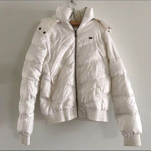 Pull&Bear Jackets & Blazers - White Puffer Jacket