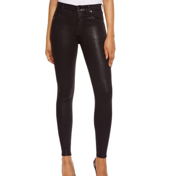 dc07f0d2c16 Hudson Jeans Denim - Hudson Barbara Coated Super Skinny Jeans In Noir