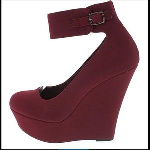 Charlotte Russe Shoes - Charlotte Russe Wedge Heel ankle strap