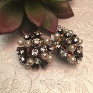 J. Crew Jewelry - J. Crew Tortoise Pearl & CZ Earrings