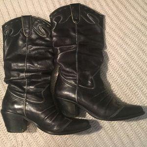 Volatile Shoes - Volatile Black Cowgirl Boots