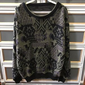 LF Stores Sweaters - Open back printed sweater