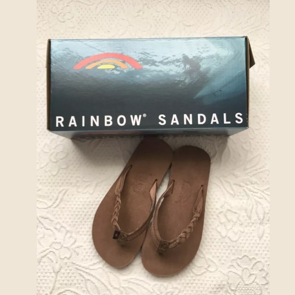 dc30d78fd22b RAINBOW Girls Flirty Leather Flipflops Size 11 12