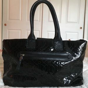 Donald j Pliner Black leather tote!!!!