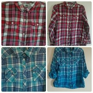 Other - Bundle of girls flannel shirts