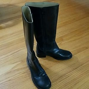 Black leather LL Bean Boots size 6