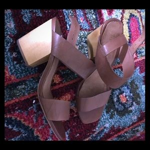 Madewell Brown Leather Heels 7.5