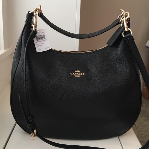 c271176ed3 Coach Harley black leather hobo handbag cross body
