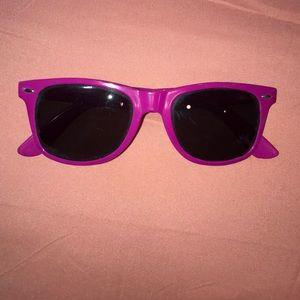 Accessories - women's magenta sunglasses