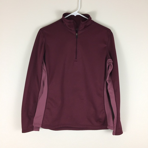 e4be9acd REI Maroon Baselayer Pullover Zip Shirt. M_5884f1166802784d6900dadd