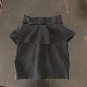 ASOS black peplum skirt