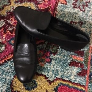 Yves Saint Laurent YSL Black Leather Loafers 7.5