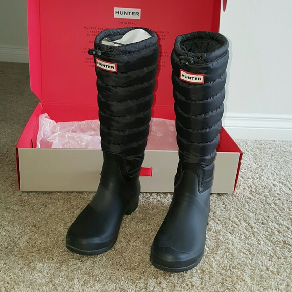 c094bfd44fef Hunter Shoes - Hunter Original Tall boot quilted upper size 10