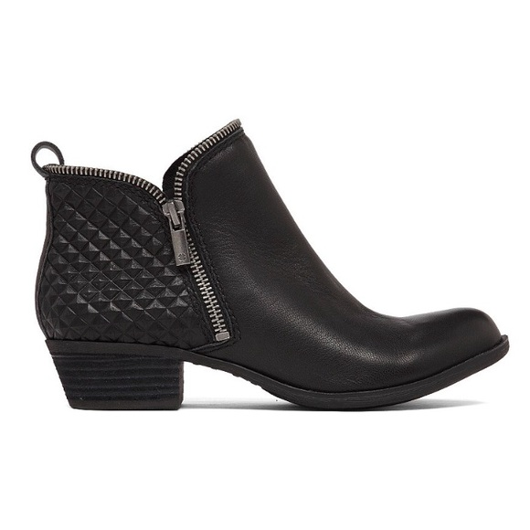 LUCKY BRAND Bartalino Quilted Leather Booties 7.5