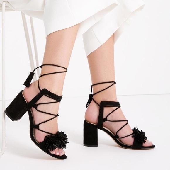 Sandals Heel Up Leather Size Zara ShoesHigh 37 Lace Poshmark v8m0nNw